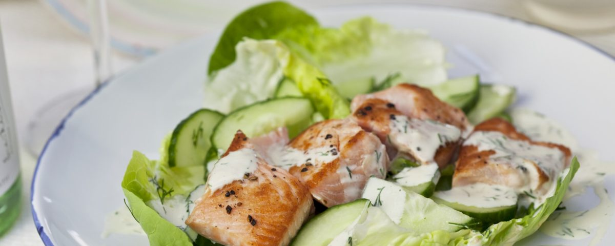 salmon cucumber dill salad monthly recipe