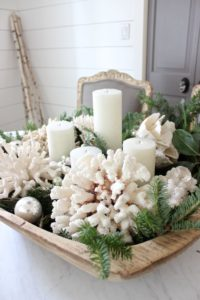 Coastal Christmas Decor - basket