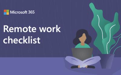 Remote work checklist