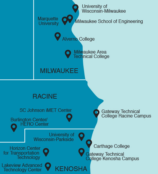 Racine County Higher education