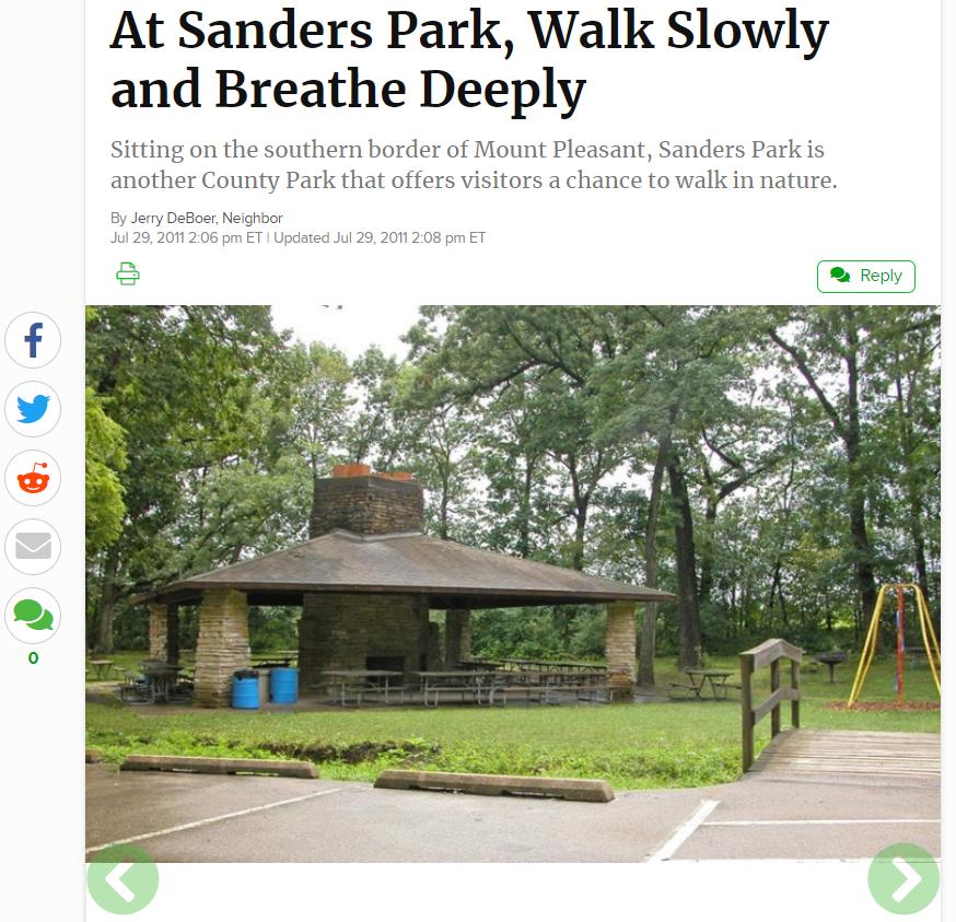 Sanders Park Article Racine County Parks