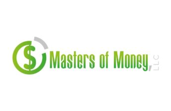 Masters of Money LLC Green and White Logo