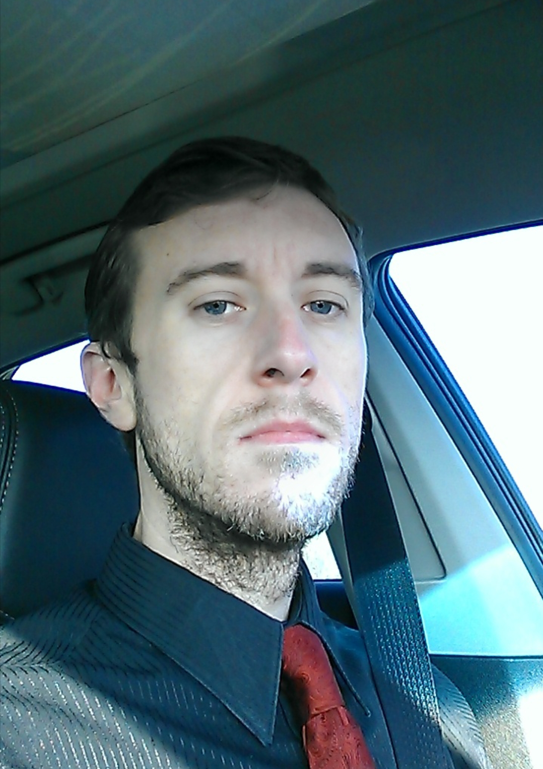 Michael MJ The Terrible Johnson Suit and Tie Driving Photo
