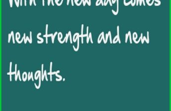 With the new day comes new strength and new thoughts. Quote Picture
