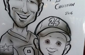 Michael and Christian Johnson Caricature (2016)