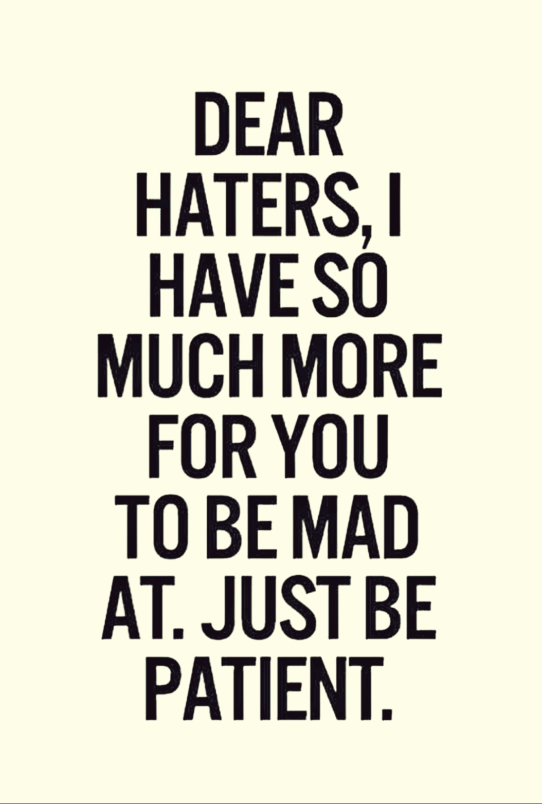 Masters of Money LLC Just Wait Haters Quote