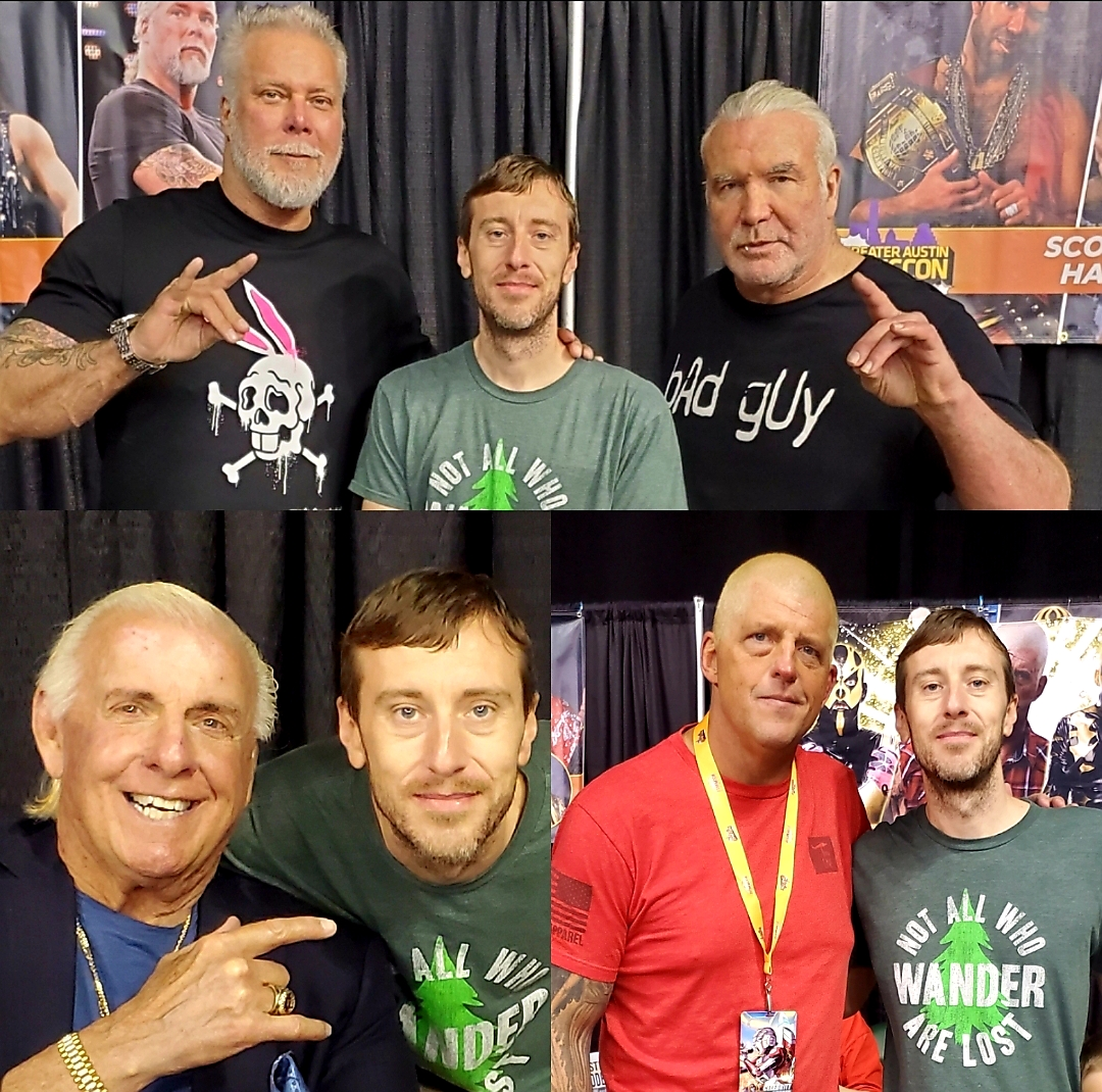 "Michael ""MJ The Terrible"" Johnson at Greater Austin Comic Con with Ric Flair Scott Hall Kevin Nash & Gold Dust"