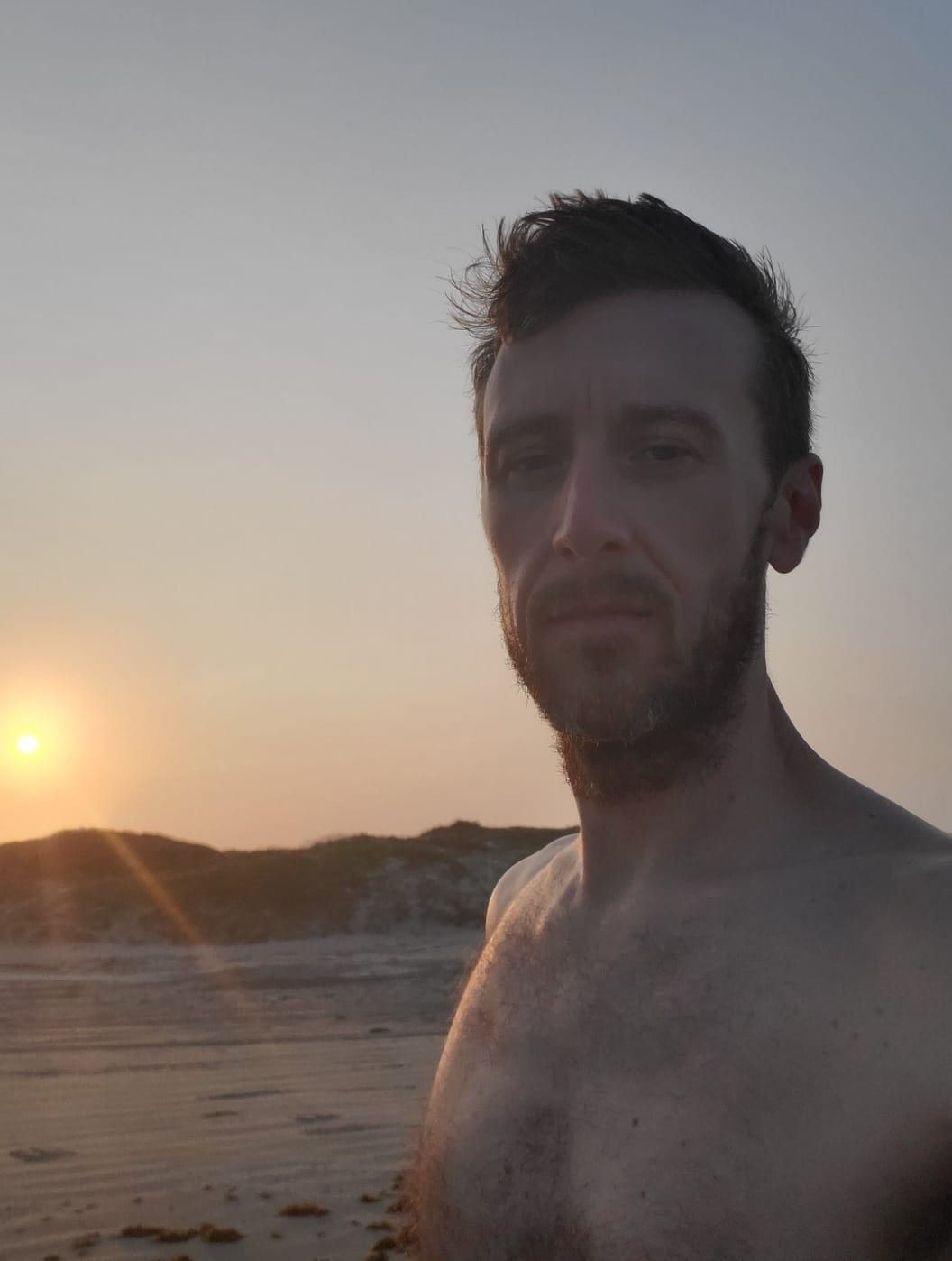 "Michael ""MJ The Terrible"" Johnson Beach House Sunrise Selfie"