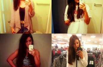 Malia Johnson Mirror Selfie Collage