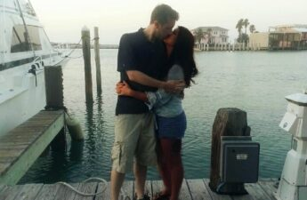 "Malia and Michael ""MJ The Terrible"" Johnson Port Aransas Texas Romantic Kiss Picture"