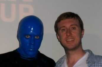 "Blue Man Group and Michael ""MJ The Terrible"" Johnson Photo"