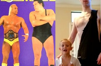 Hulk Hogan Andre The Giant MJ The Terrible and Son Collage