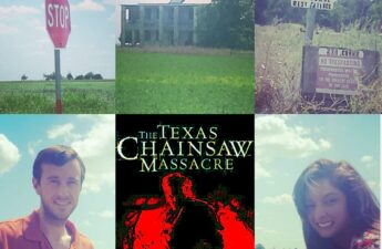 Malia and MJ Texas Chainsaw Massacre House Collage
