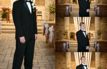 Michael MJ The Terrible Johnson Wearing Tuxedo Collage