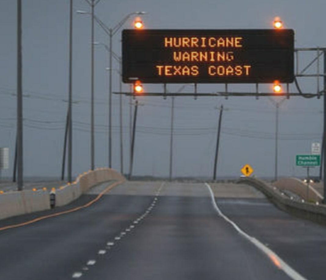 Texas Hurricane Warning Sign Photo