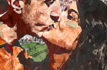 "Malia and MIchael ""MJ The Terrible"" Johnson Texas Football Game Romantic Kiss Painting"