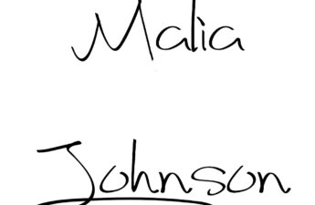 Malia Johnson's Signature