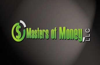 Masters of Money LLC Cartoon Logo Vignette