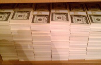 One Million Dollars In One Hundred Dollar Bill Stacks
