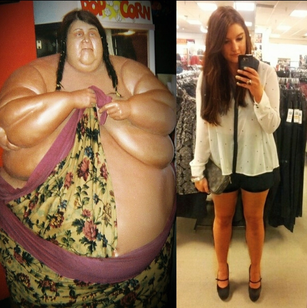 Heaviest Woman In The World and Malia Johnson Collage