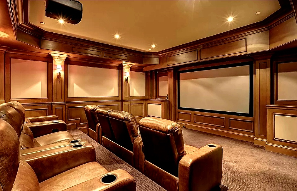Home Theatre Room Inside of Malia and MJ's Home In Bethesda Maryland