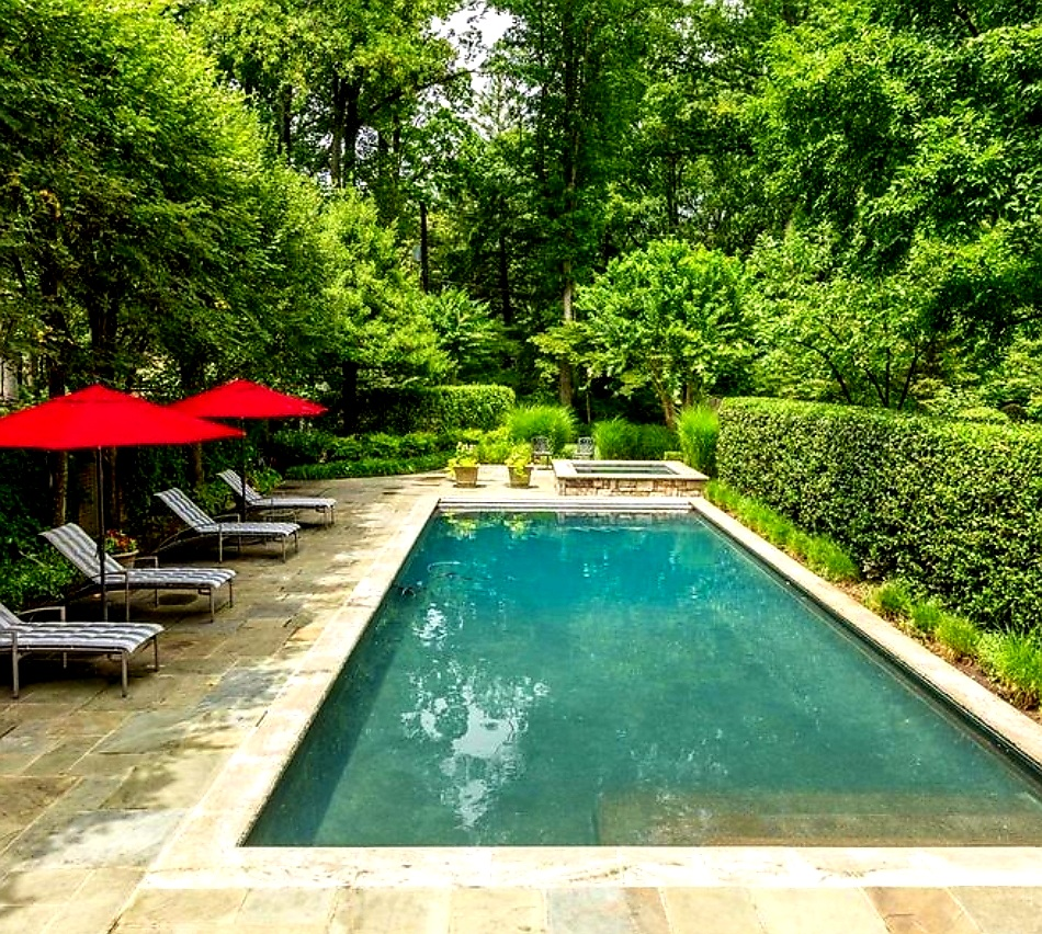 Pool and Jacuzzi Photo at Malia and MJ's Bethesda Maryland Home