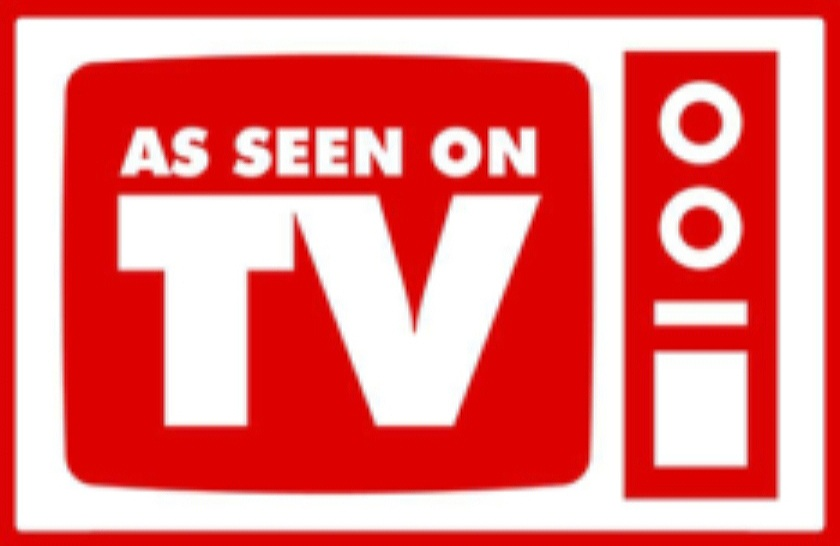 Red and White As Seen On TV Graphic
