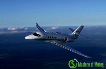 Masters of Money LLC Private Jet Logo Photo