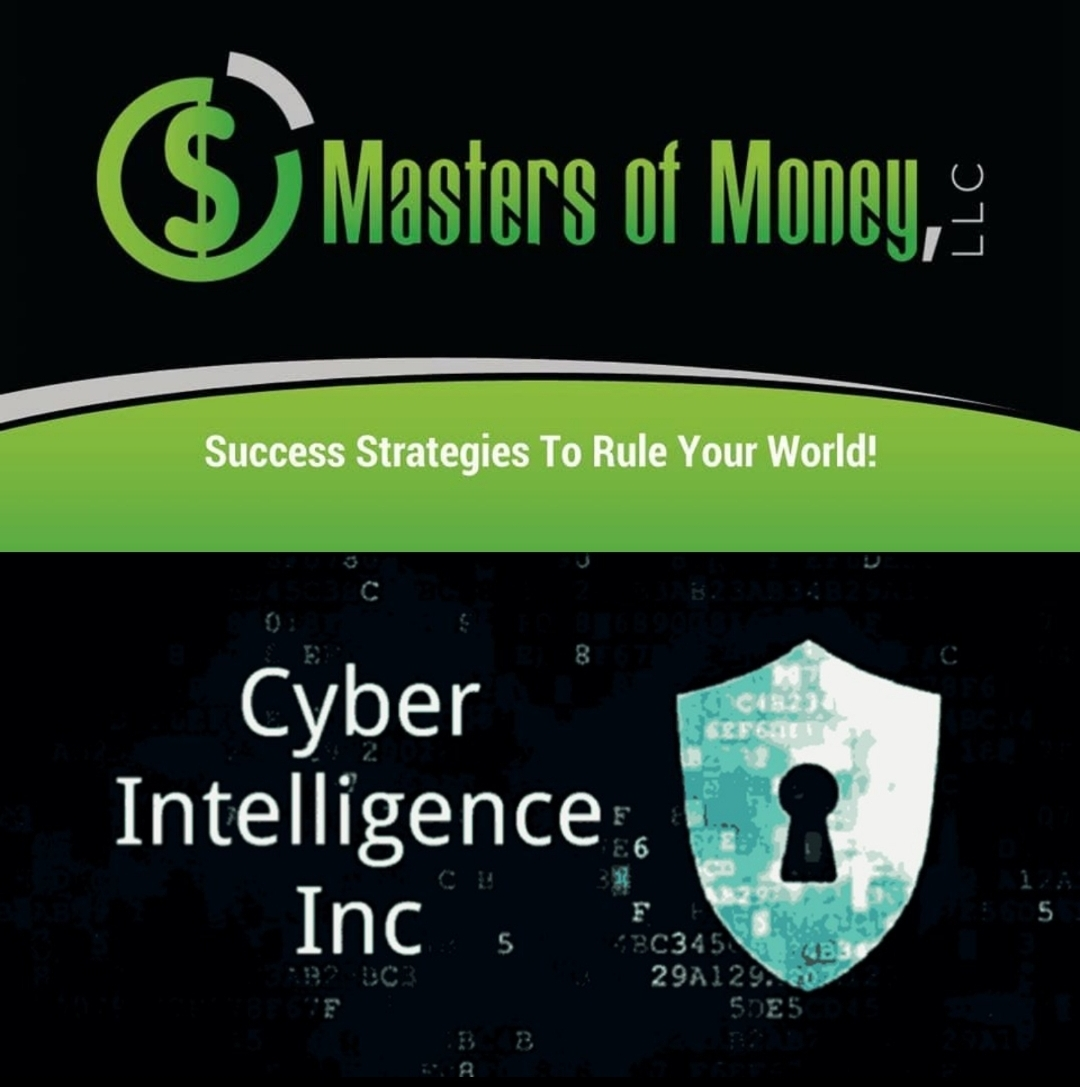 Masters of Money LLC and Cyber Intelligence Inc Logo Collage