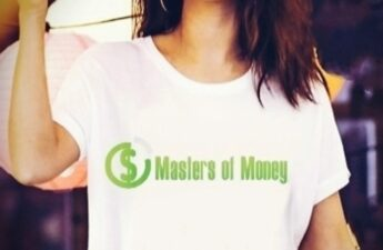 Selena Gomez Wearing a Masters of Money LLC Logo T-Shirt