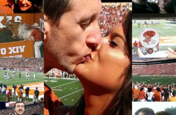 Malia and MJ Texas Longhorns Football Games Picture Collage