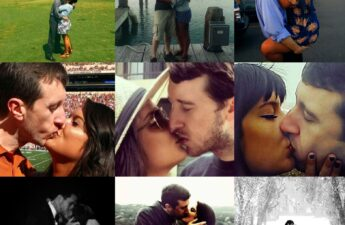 "Malia and Michael ""MJ The Terrible"" Johnson 9 Year Anniversary 9 Kisses Collage"