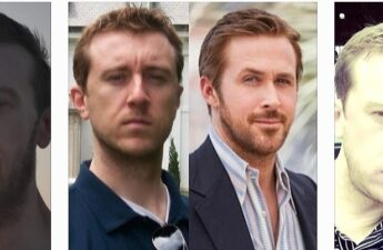 """Ryan Gosling and Michael """"MJ The Terrible"""" Johnson Side by Side Photo Collage"""