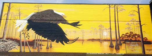 Niceville High Eagle Mural