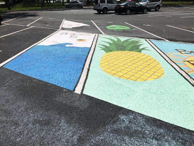 niceville high school parking lot art