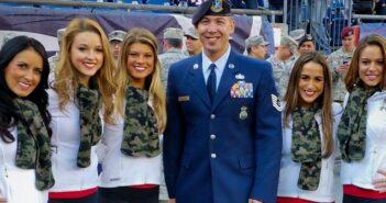 New Egland Patriots honor local airman, Niceville FL
