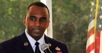 Eglin Air Force Base MLK Day speaker, Chief Master Sgt. Chris McKinney, superintendent of the 33rd Operations Group, 33rd Fighter Wing.
