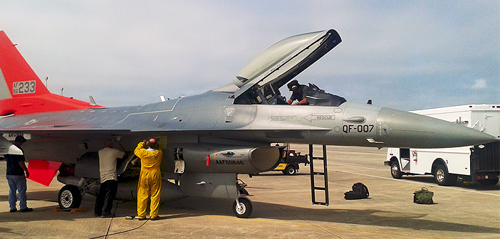 QF-16 at Tyndall Air Force Base, Fla.