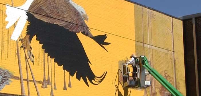 Niceville High Eagle Mural Pattie Gillespie