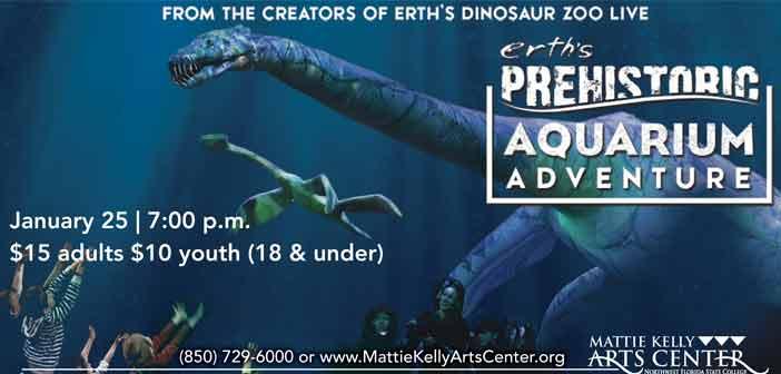 mattie kelly arts center prehistoric aquarium niceville fl