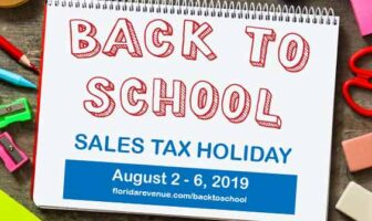 florida back to school sales tax holiday 2019