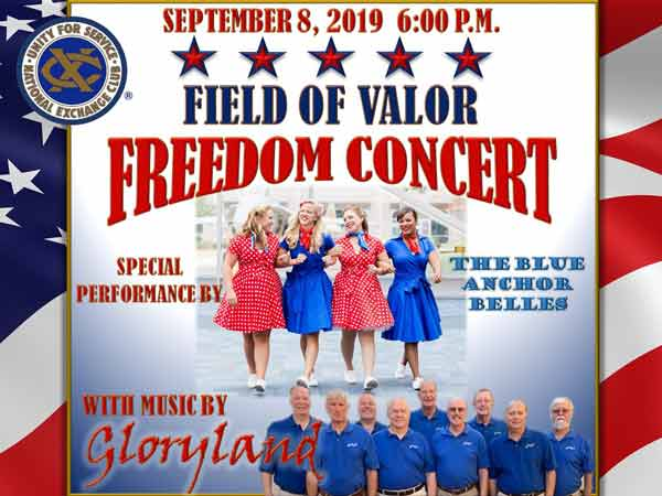 Freedom Concert Gloryland and Blue Anchor Belles.