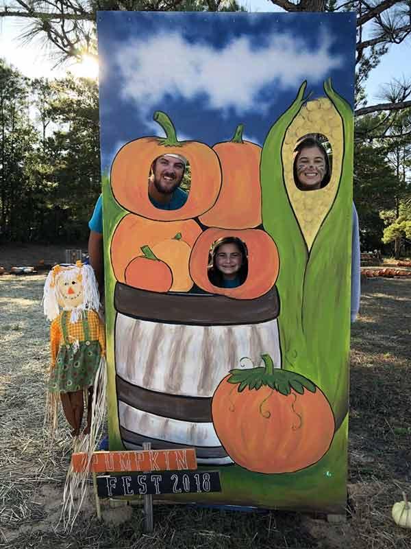pumpkin patch face hole photo