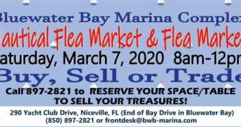 bluewater bay marina nautical flea market 2020 Niceville