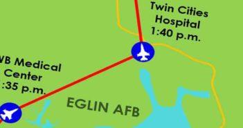 eafb flyover okaloosa county hospitals and medical facilities eglin air force base map route