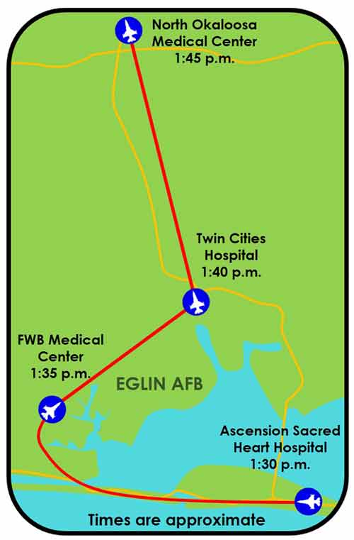 eafb flyover okaloosa county hospitals and medical facilities eglin air force base