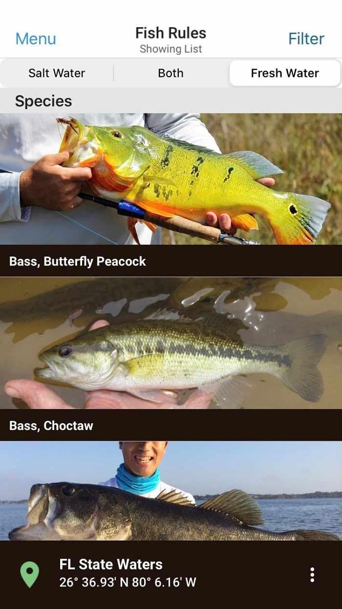fwc florida freshwater fishing app