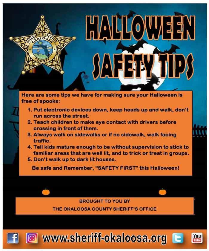 halloween safety tips okaloosa county sheriff's office