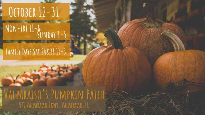niceville valparaiso pumpkin patch for halloween
