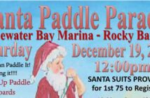 bluewater bay marina niceville santa paddle board parade 2020